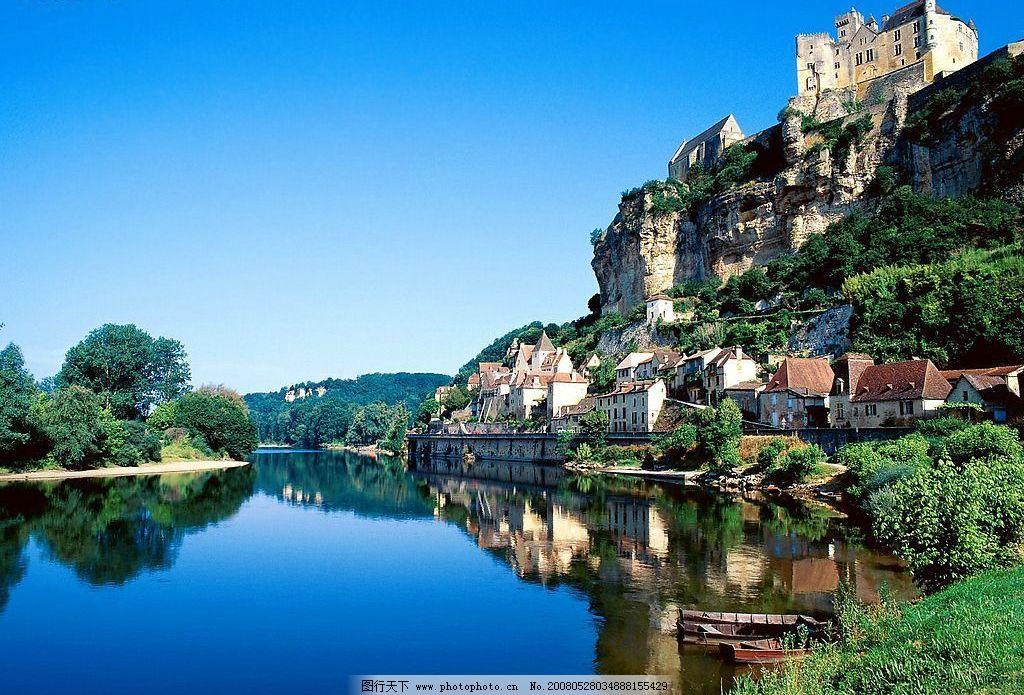 欧洲小镇 小镇 田园 自然 欧洲 自然景观 自然风景 小城风光 摄影图库