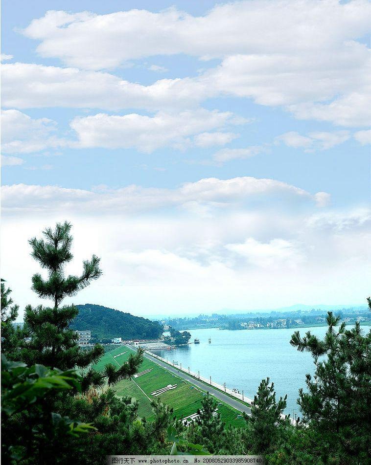 金牛山水库风光 南京 旅游摄影 国内旅游 南京市水利资料 摄影图库