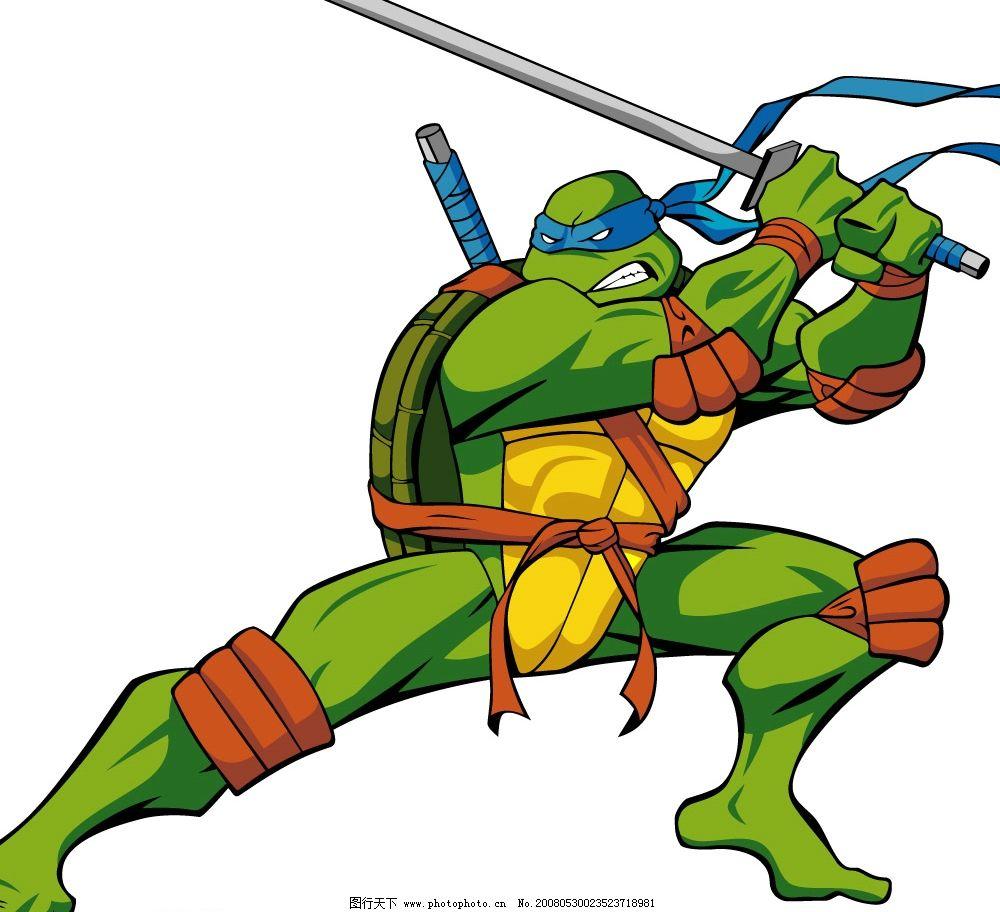 忍者神龟 矢量 矢量人物 矢量图库