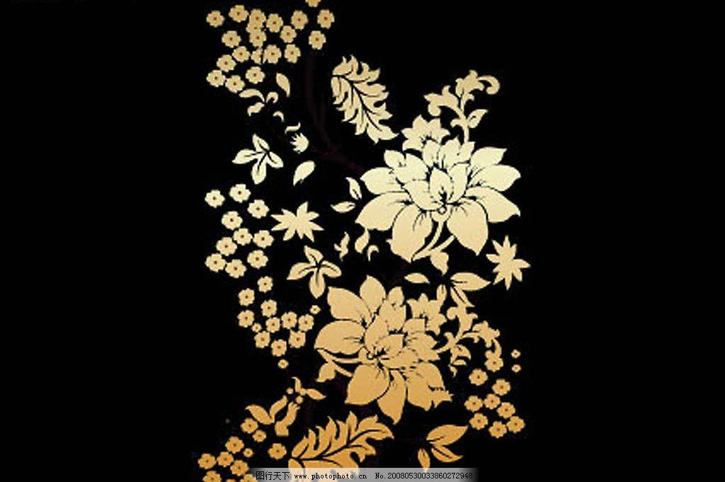 常用花朵金色矢量花纹图片