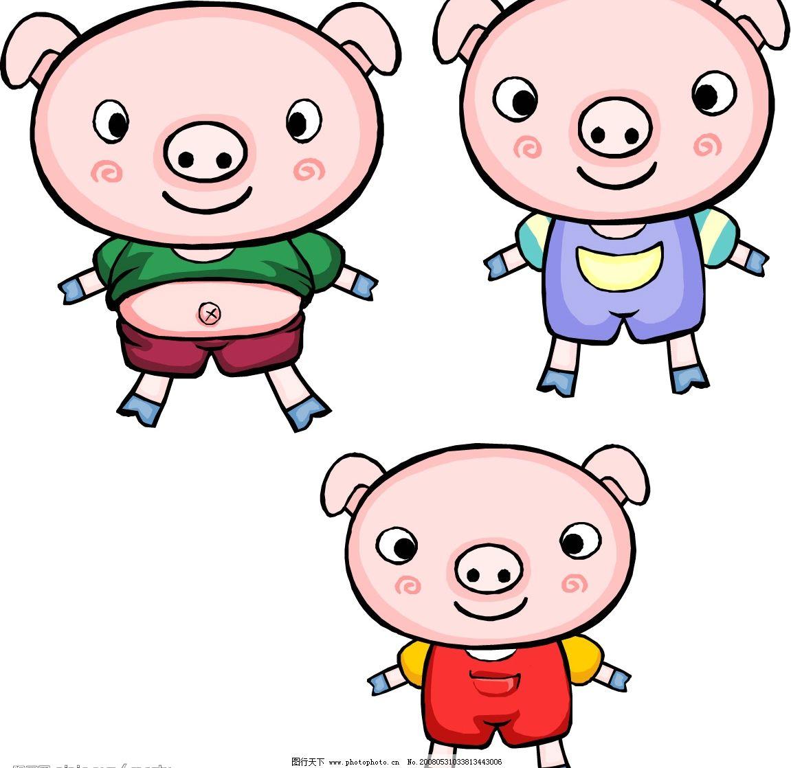 三只小猪 童话故事 小猪 其他矢量 矢量素材 矢量图库   wmf