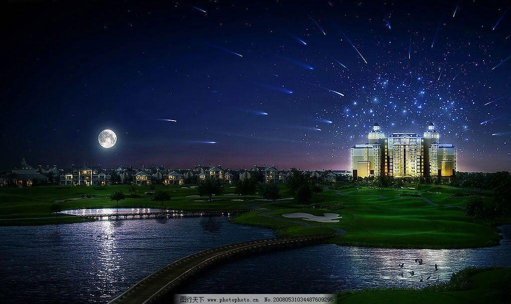 夜景 自然景观 山水风景 haha 摄影图库 72 jpg