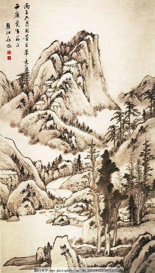 古画 古代山水画 国画 中国画 绘画 文化艺术 绘画书法 设计图库 300