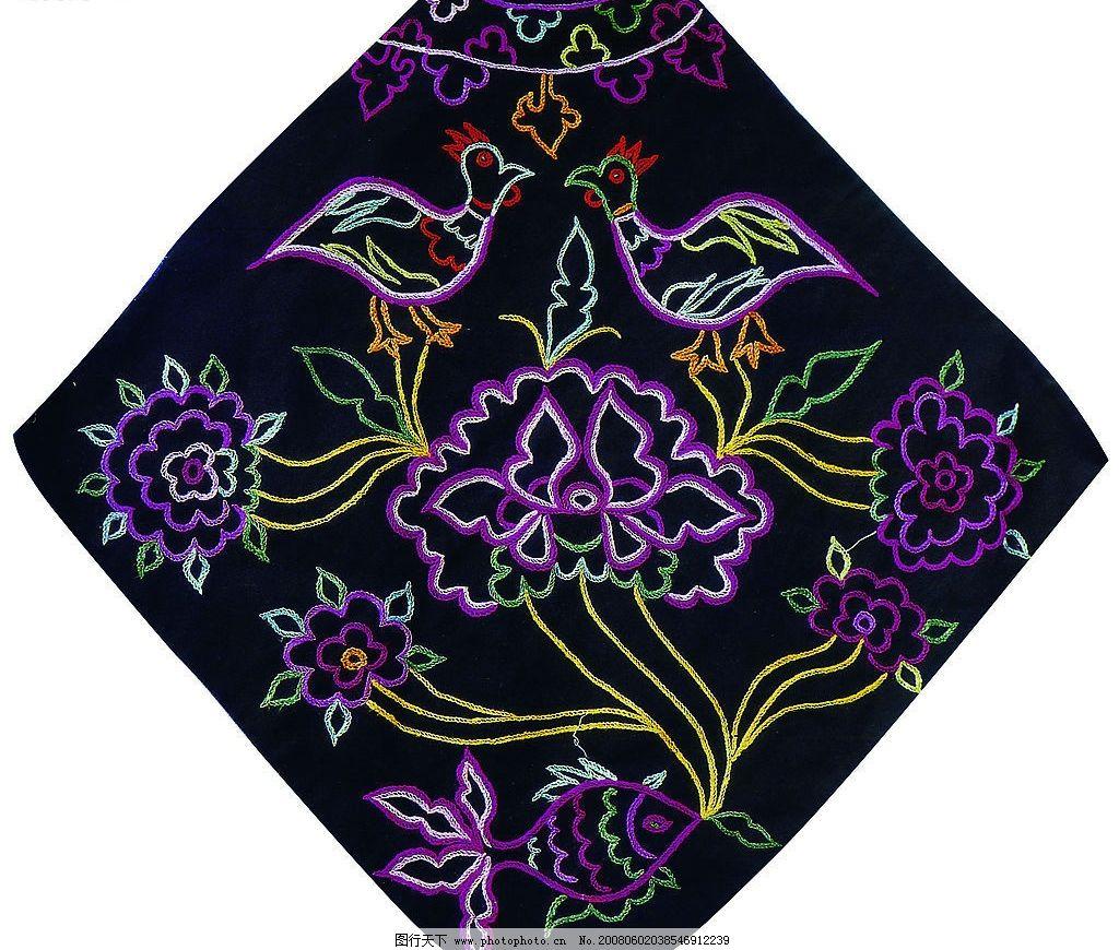 刺绣 中国民间 传统 民族 肚兜 文化艺术 传统文化 摄影图库 300 jpg