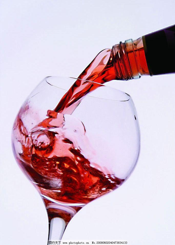 葡萄酒 红酒 酒杯 红酒瓶 倒酒 摄影图库