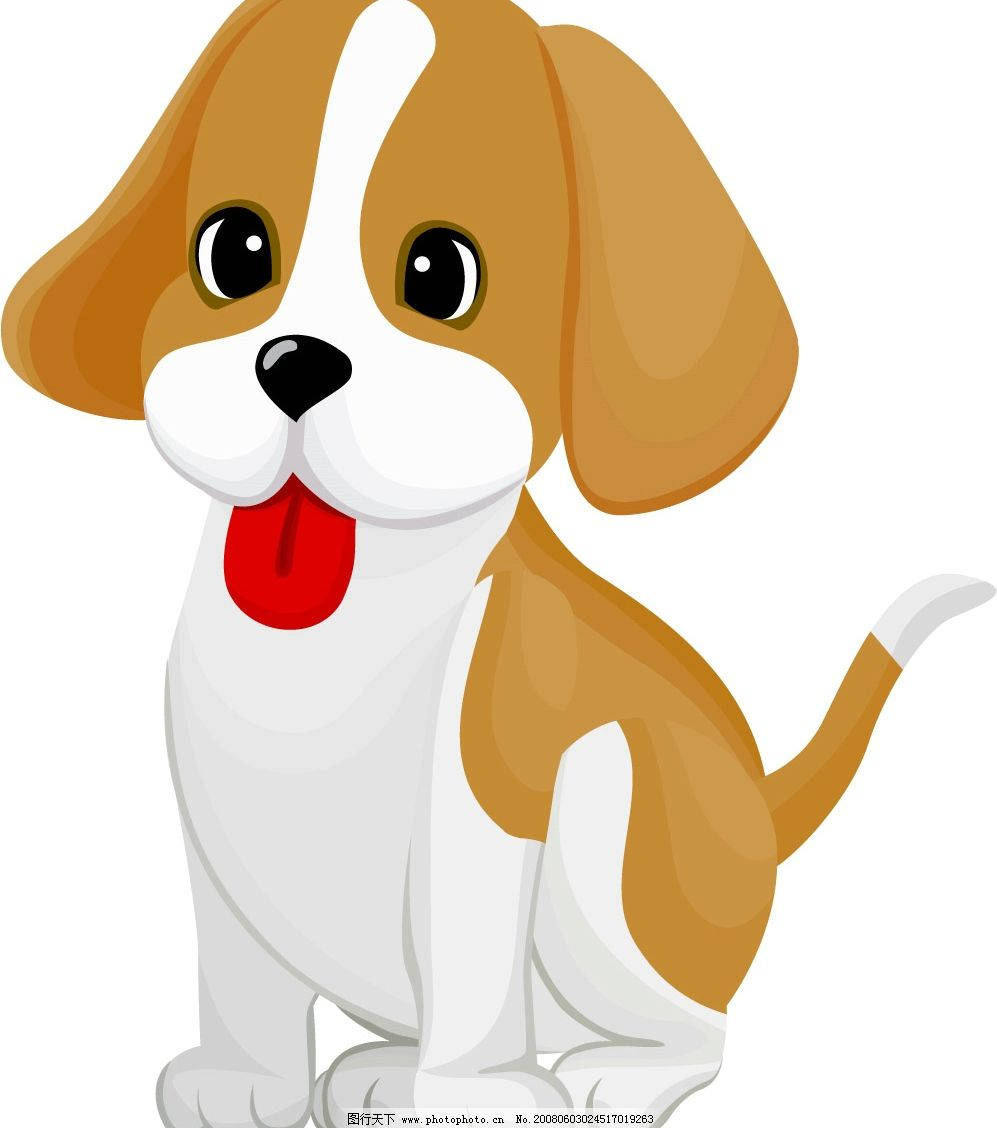 可爱小狗 狗 宠物 矢量狗