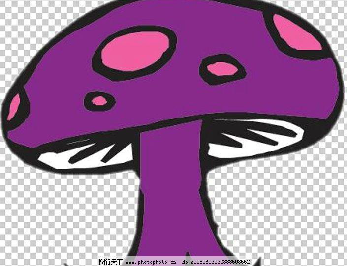 蘑菇 卡通蘑菇 psd分层素材 风景 源文件库 150 psd