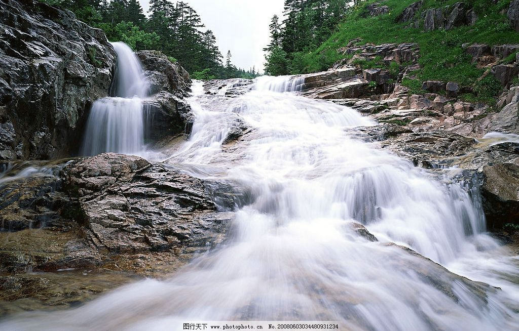 溪流水源 水流 自然景观 山水风景 摄影图库 350 jpg