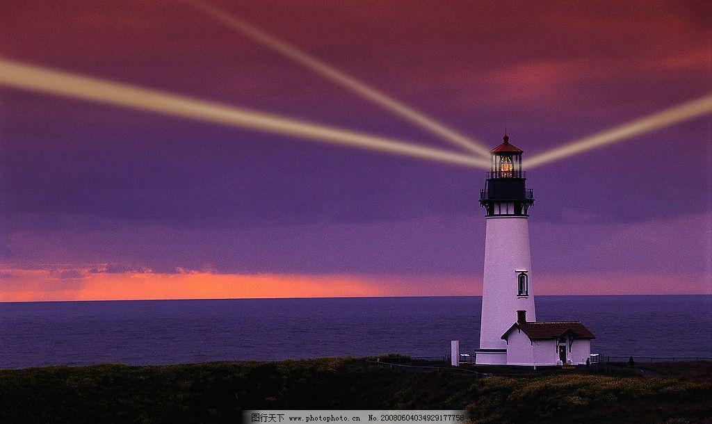 灯塔 灯 夜景 海 自然景观 其他 摄影图库 300 jpg