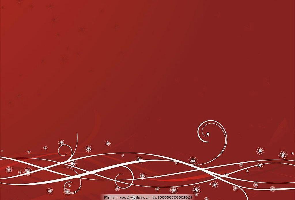 背景 红色背景 花朵 丝带 矢量 其他矢量 矢量素材 矢量图库