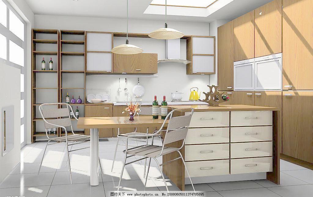 3d厨房效果图图片