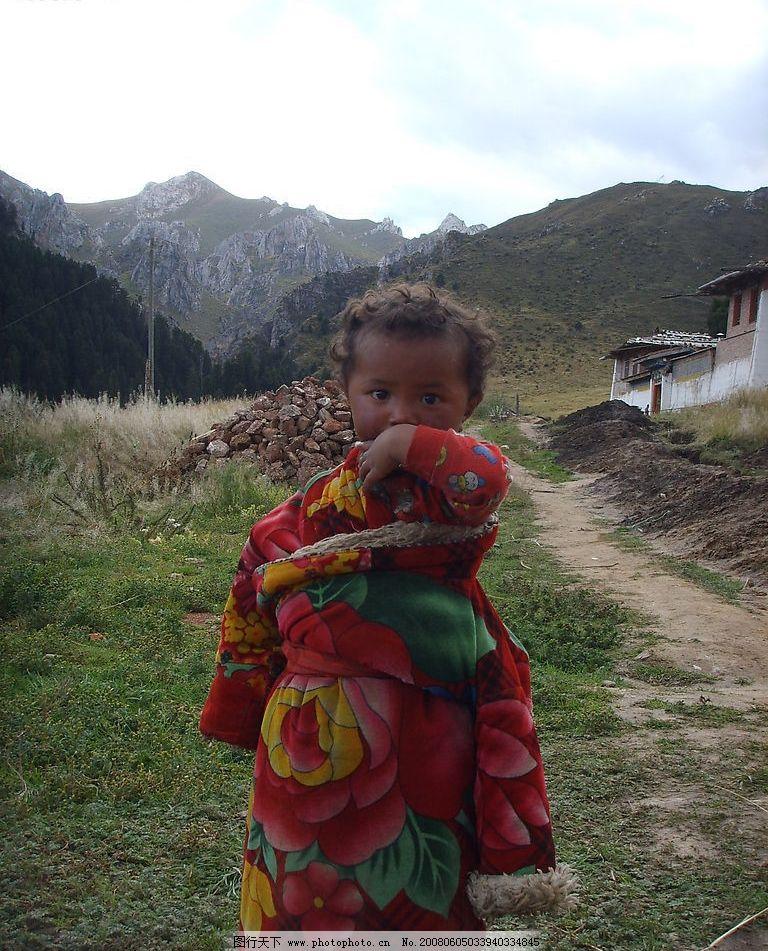 藏族小孩图片