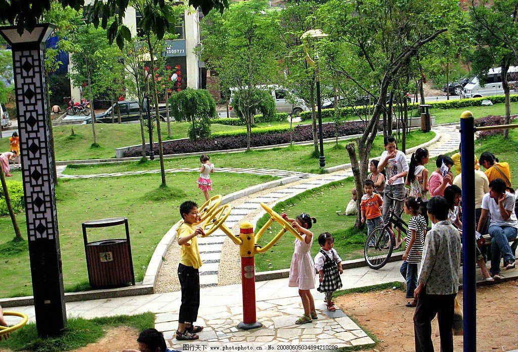 公園景色 六一兒童節 城南公園 小朋友 樹 玩耍 自然景觀 自然風景