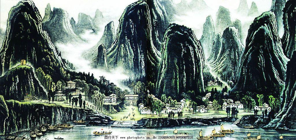 中国山水水墨画图片
