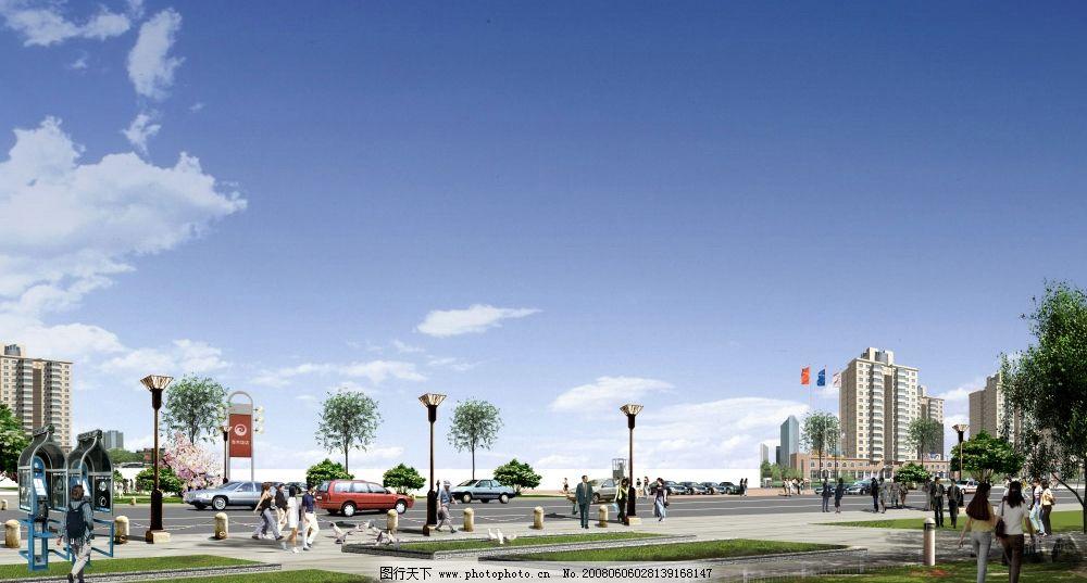 街道景观布局效果图图片