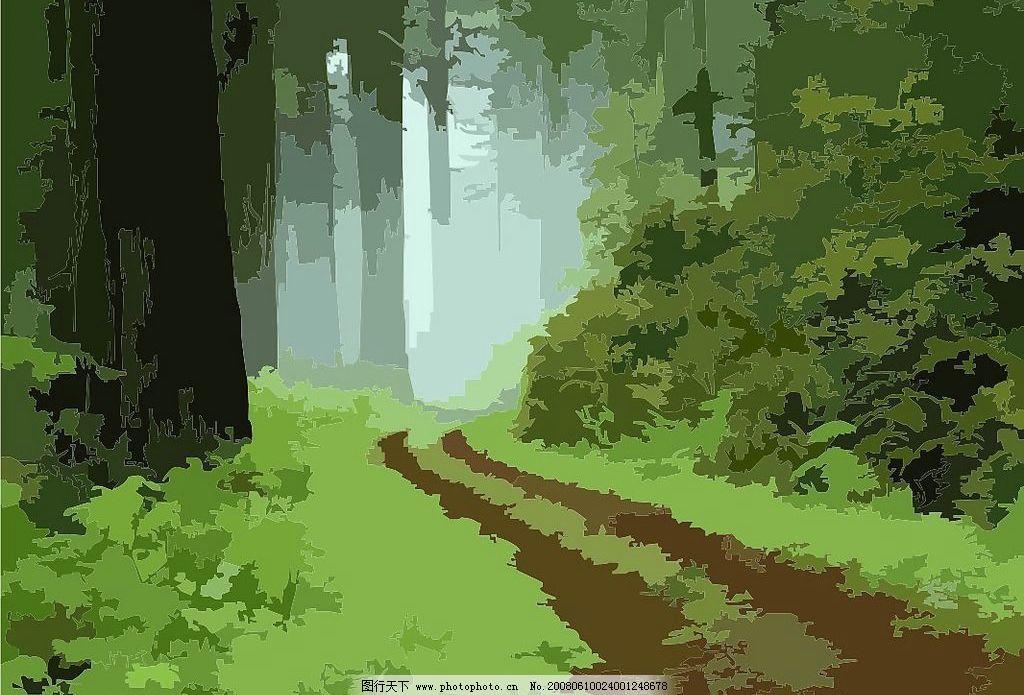 森林小路图片