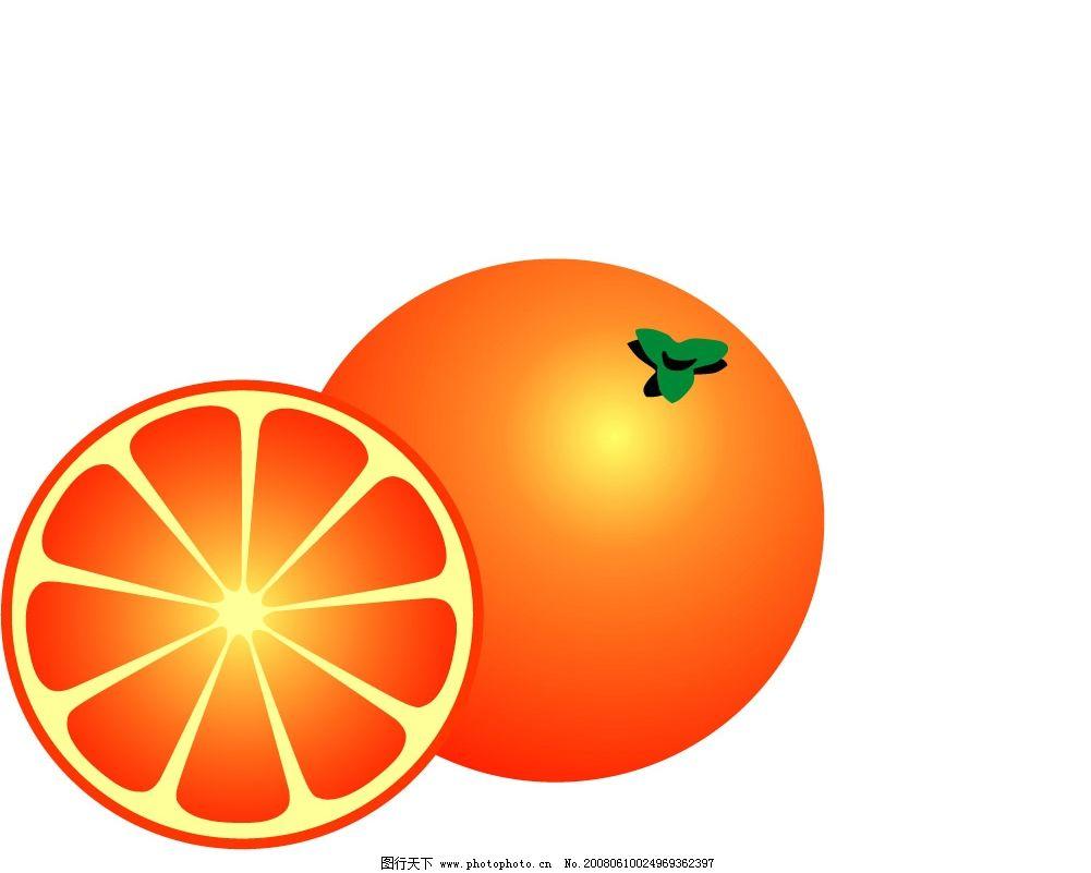 橘子手绘卡纸海报