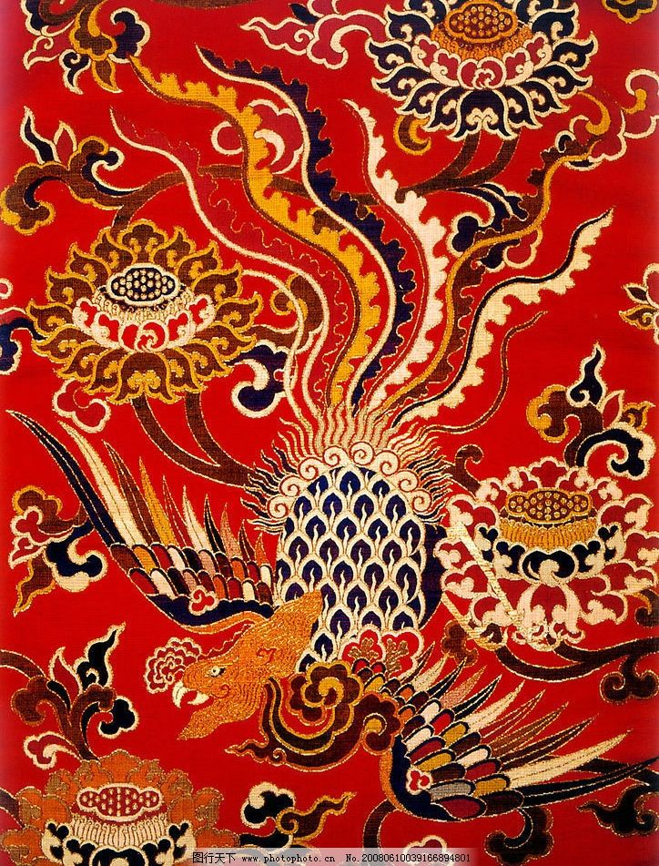 凤纹刺绣 凤凰 文化艺术 其他 文化艺术类 摄影图库 450 jpg