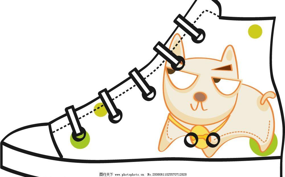 卡通帆布手绘鞋图片