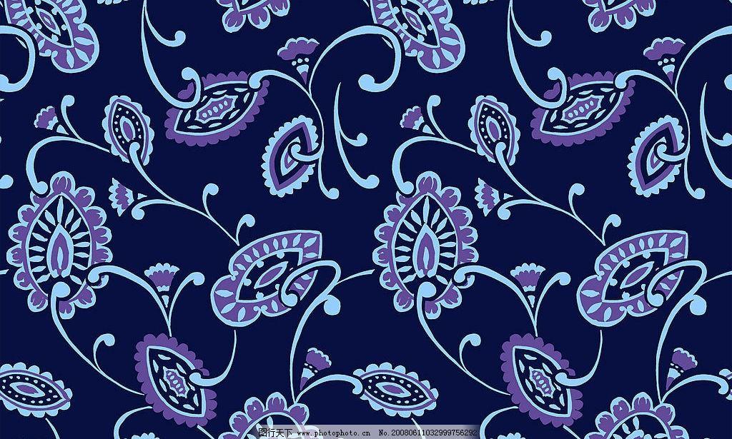 深蓝色花纹桌布