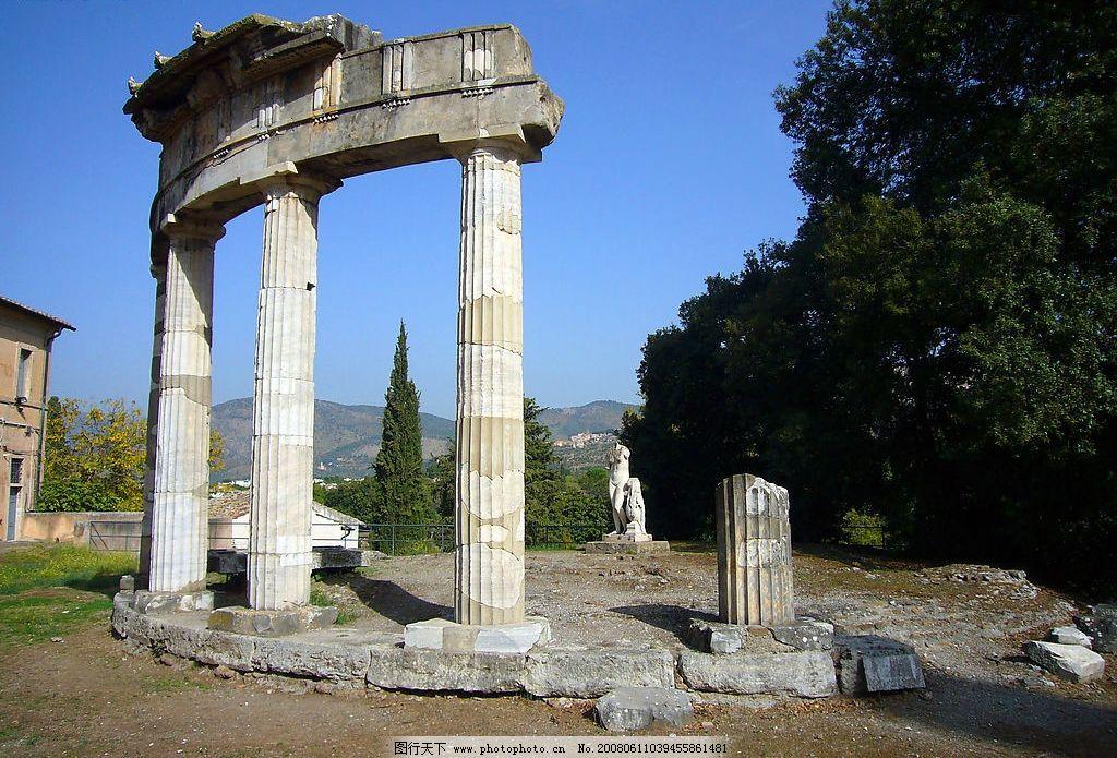 石柱 圆形的拱门 遗址 古建筑 建筑园林 建筑摄影 摄影图库 72 jpg