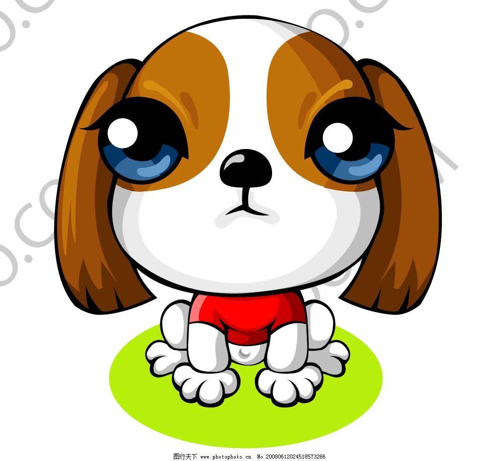 卡通苏格兰梗犬 卡通 可爱