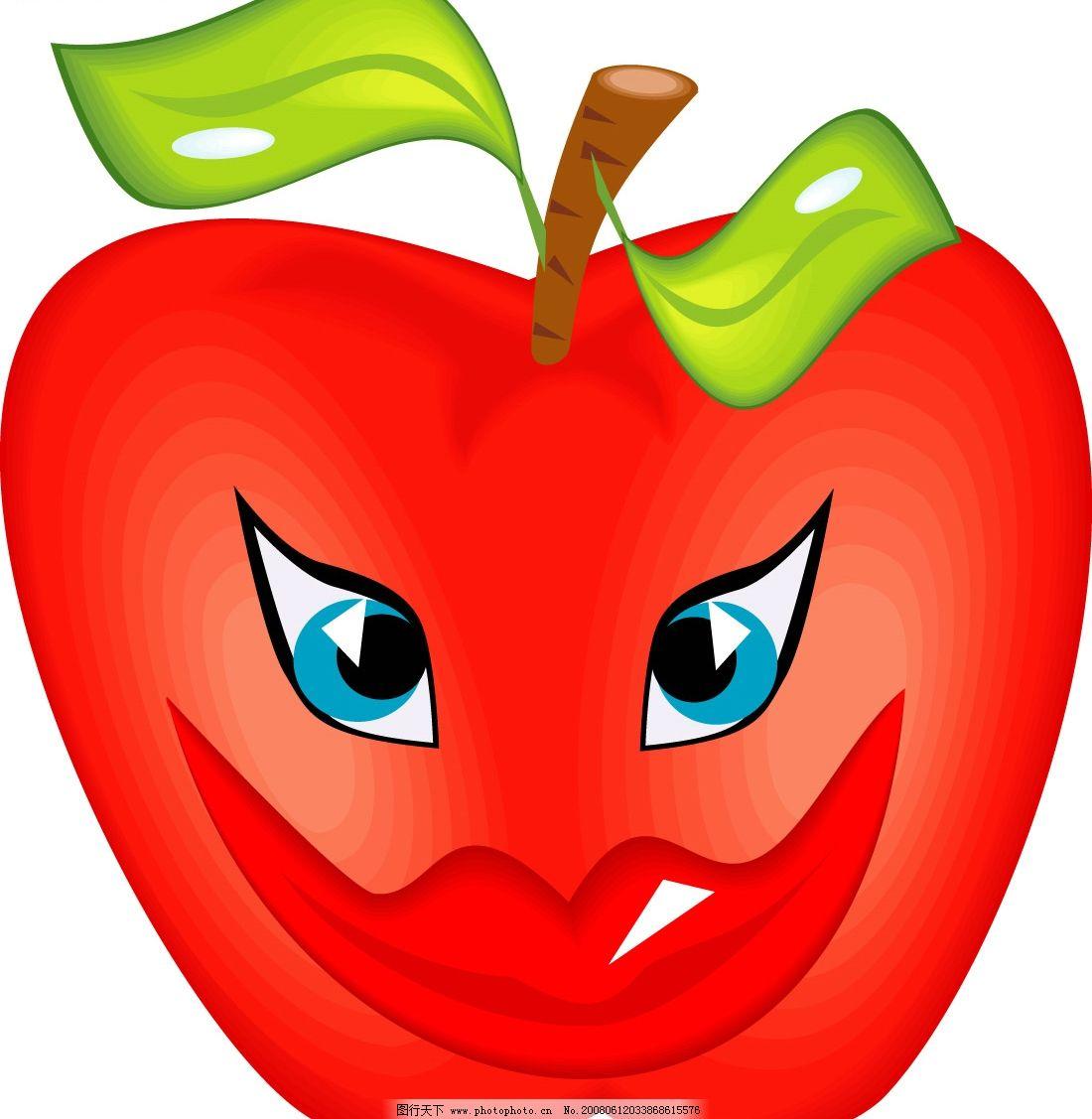 可爱卡通 苹果 其他矢量