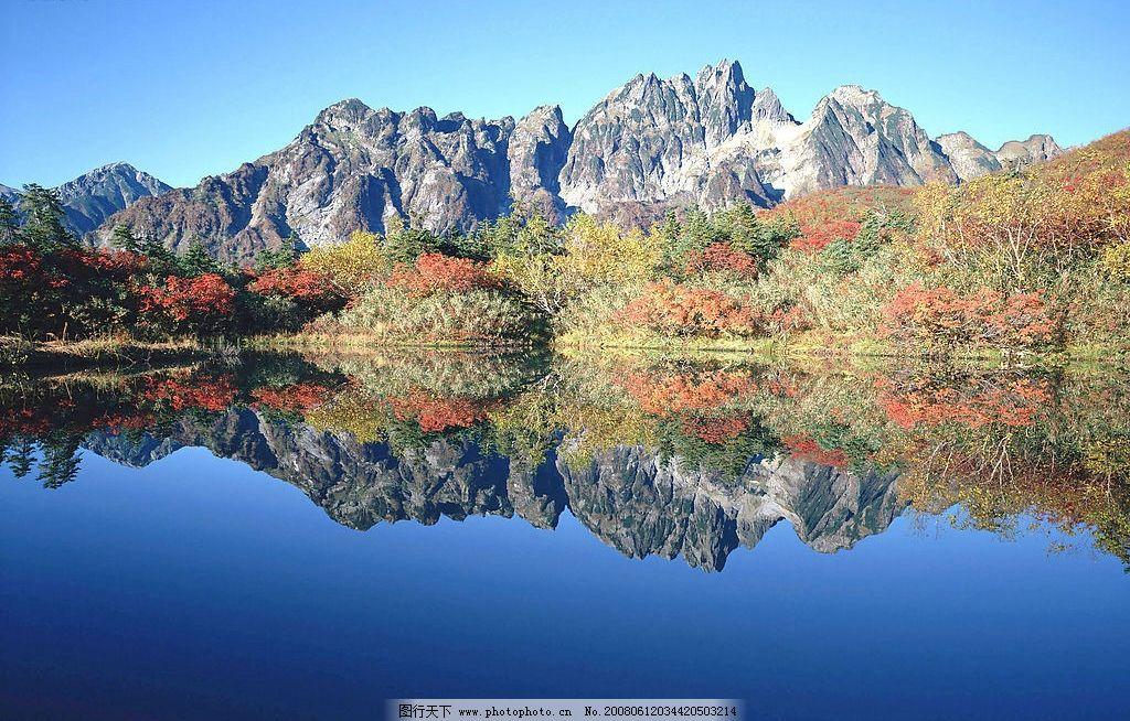 湖水 蓝天间的碧绿湖水 自然景观 山水风景 秀丽山水 摄影图库 350