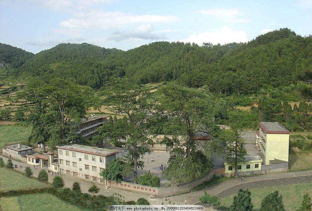 沿山中学全景图图片