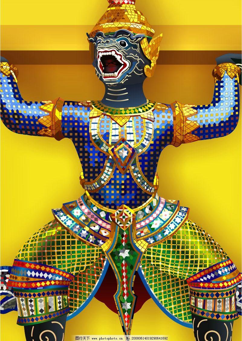 泰国神像 泰国 神像 神 雕塑 宗教 佛   ai 其他矢量 矢量素材 矢量