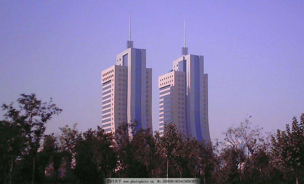 双子大楼图片_自然风景_旅游摄影_图行天下图库
