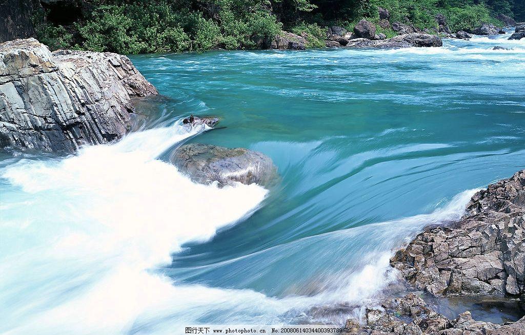 溪流水源 小溪 瀑布 自然景观 山水风景 摄影图库 350 jpg