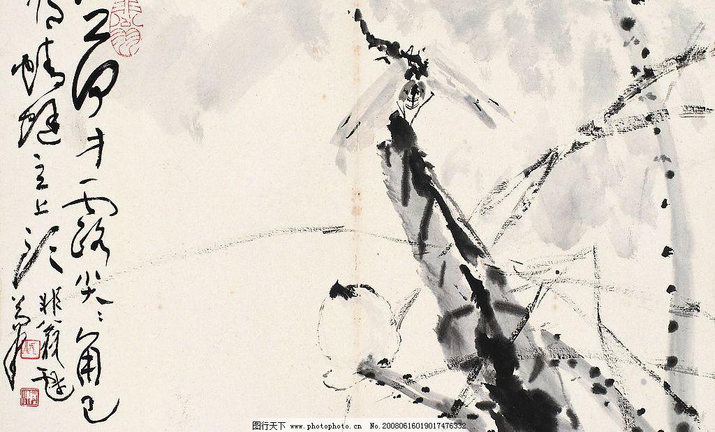 小荷才露尖尖角 国画 水墨画 荷花 蜻蜓 文化艺术 绘画书法 陆抑非