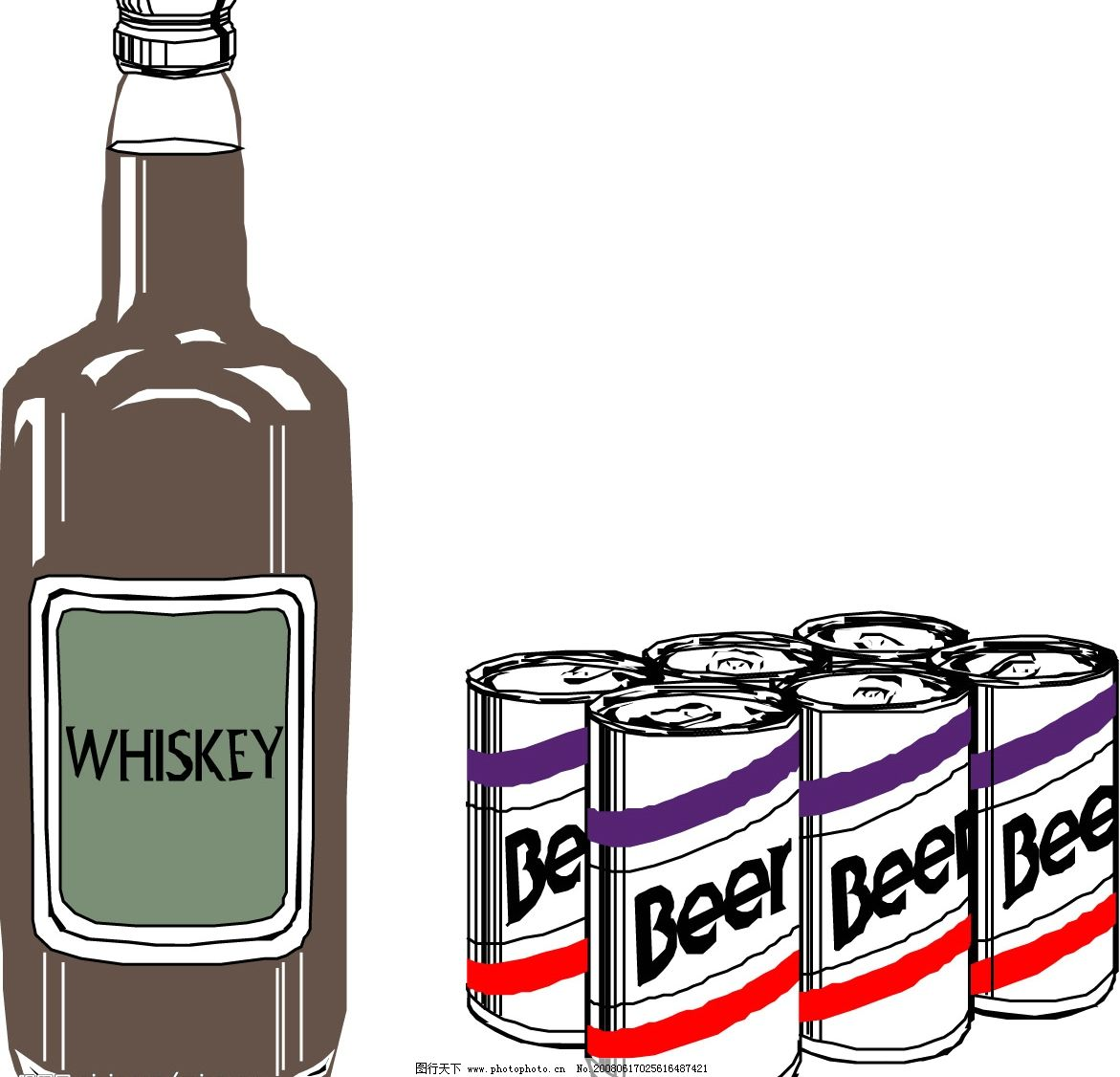 啤酒饮料矢量图 啤酒 饮料 易拉罐 矢量图 生活百科 餐饮美食 矢量