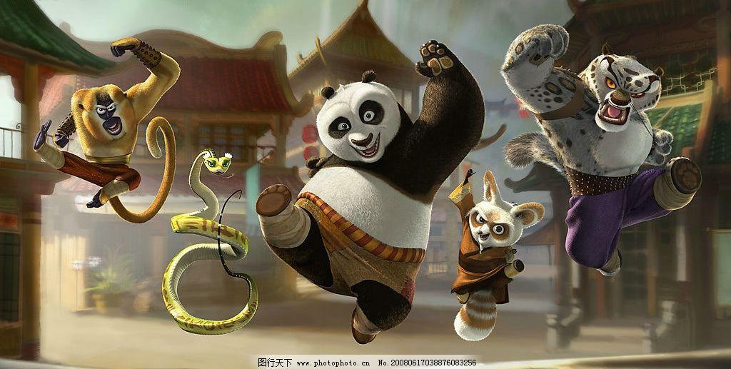 功夫熊猫电影原版剧照 功夫熊猫 电影 剧照 海报 官方 高清晰 文化