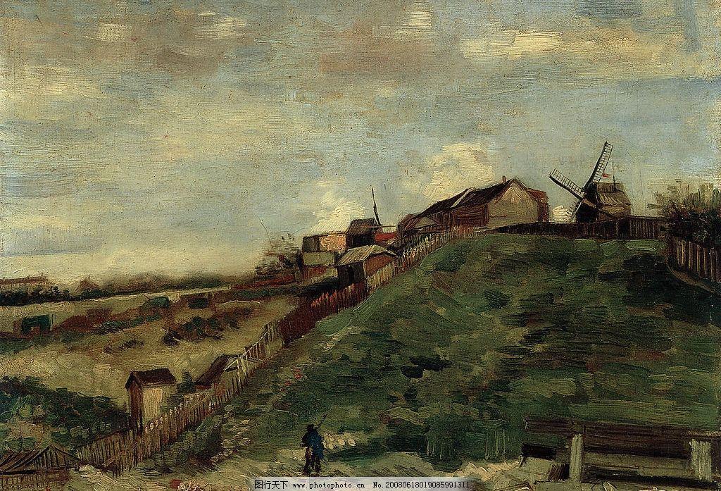 油画乡村 高像素 高清晰 油画 名人 文化艺术 绘画书法 海边 设计图