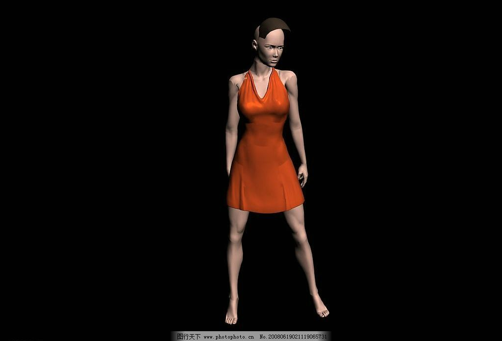 服装模特 商业空间 室内模型 源文件库