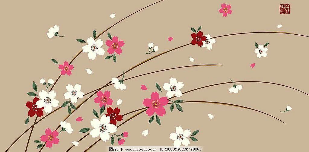 手绘背景花朵图片