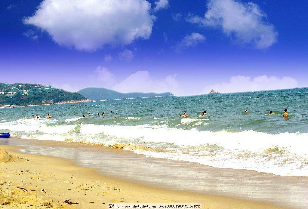 大梅沙 大海 蓝天 风景 海边 沙滩 摄影图库