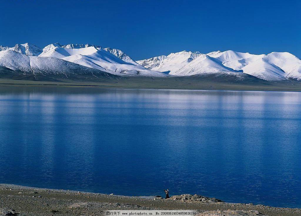 雪山 雪山,河流,天空 自然景观 自然风景 风光 摄影图库 300 jpg