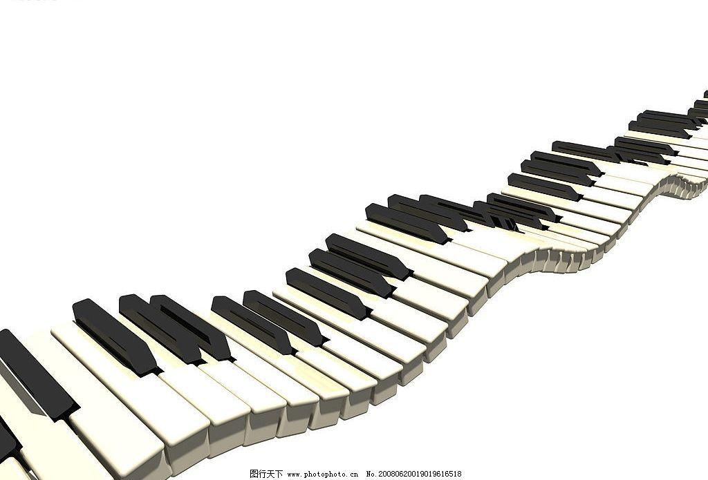 乐器图片 音乐 乐器 钢琴 琴键 波动的琴键 曲线 线条 文化艺术 舞蹈