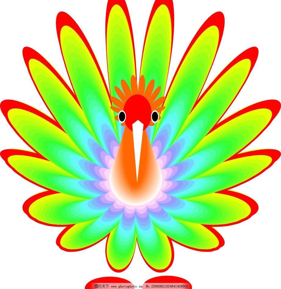 孔雀 其他矢量 矢量素材 矢量图库   cdr 生物世界 鸟类图片