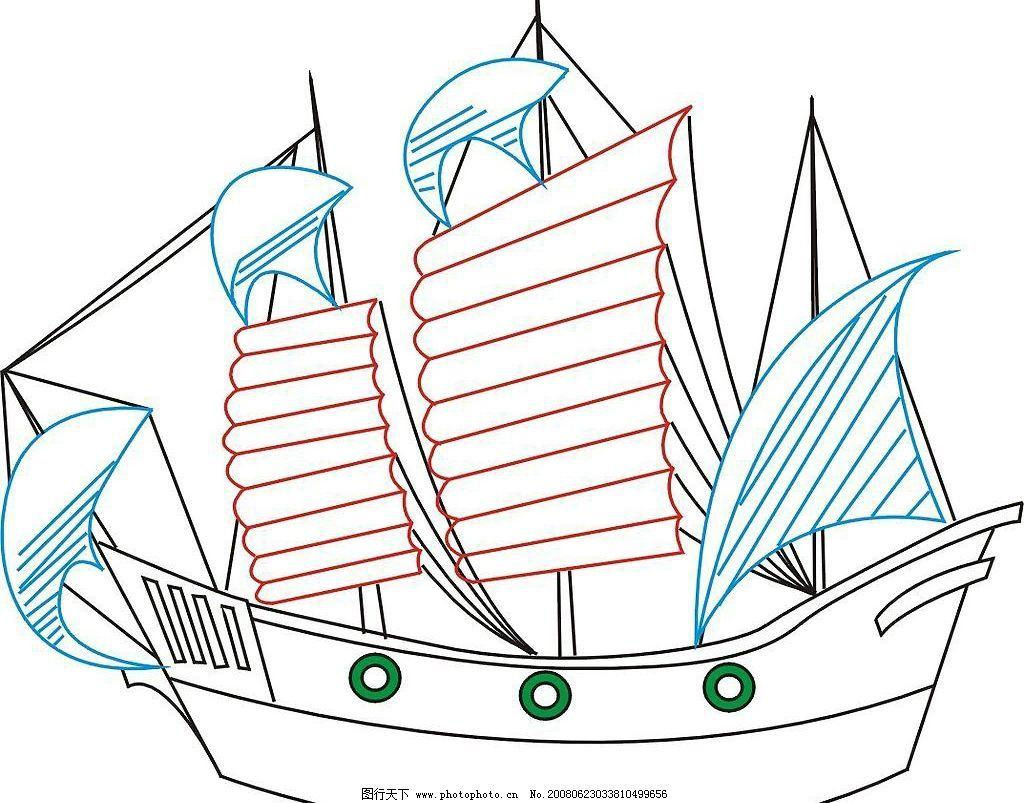 帆船 古式帆船 其他矢量 矢量素材 矢量图库