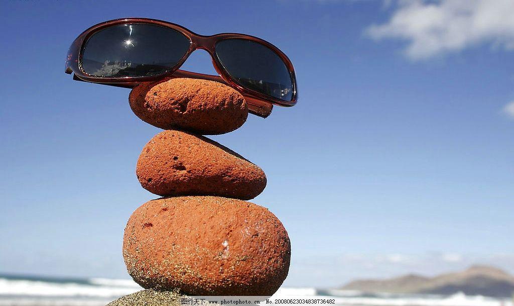创意风景石 奇石 海滩 眼镜 风景 创意 自然景观 自然风景 摄影图库 3