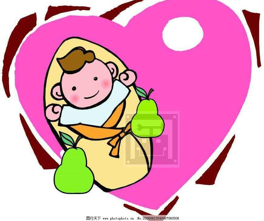 贺卡 新生儿 小宝宝 婴儿 卡片 祝贺 矢量人物 儿童幼儿 矢量图库   a