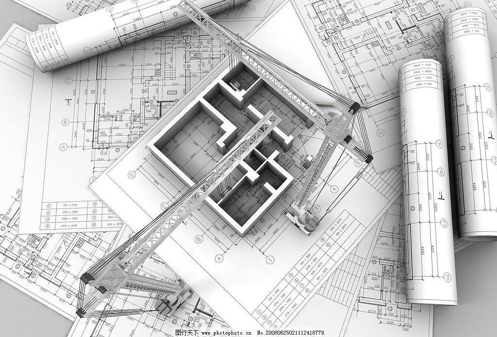 3d建筑图纸图片