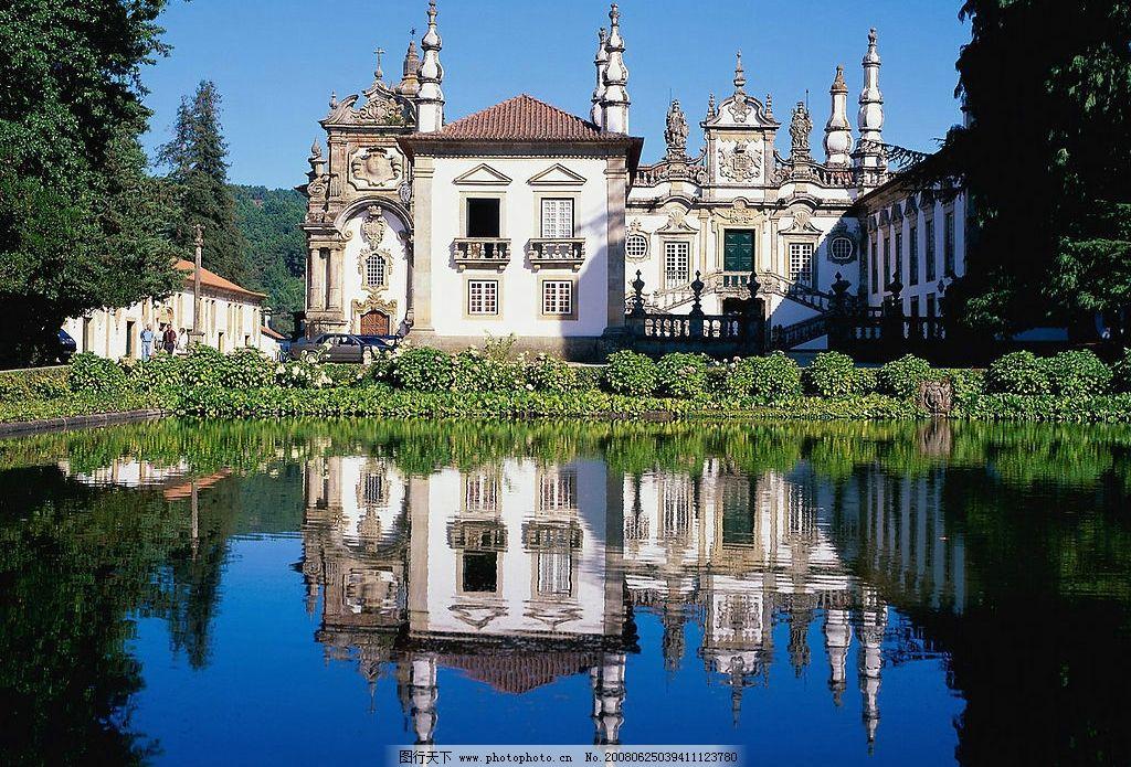 欧式建筑风光 欧式 建筑 古堡 湖泊 倒影 建筑园林 建筑摄影 欧式建筑