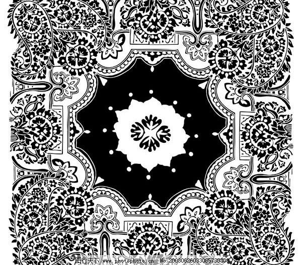瓷器花纹 手绘 黑花纹 psd分层素材 源文件库 300 psd