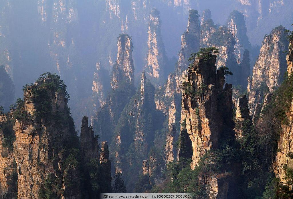 宏伟的山林 风景,山,山林, 自然景观 自然风景 黄山 摄影图库 300 jpg