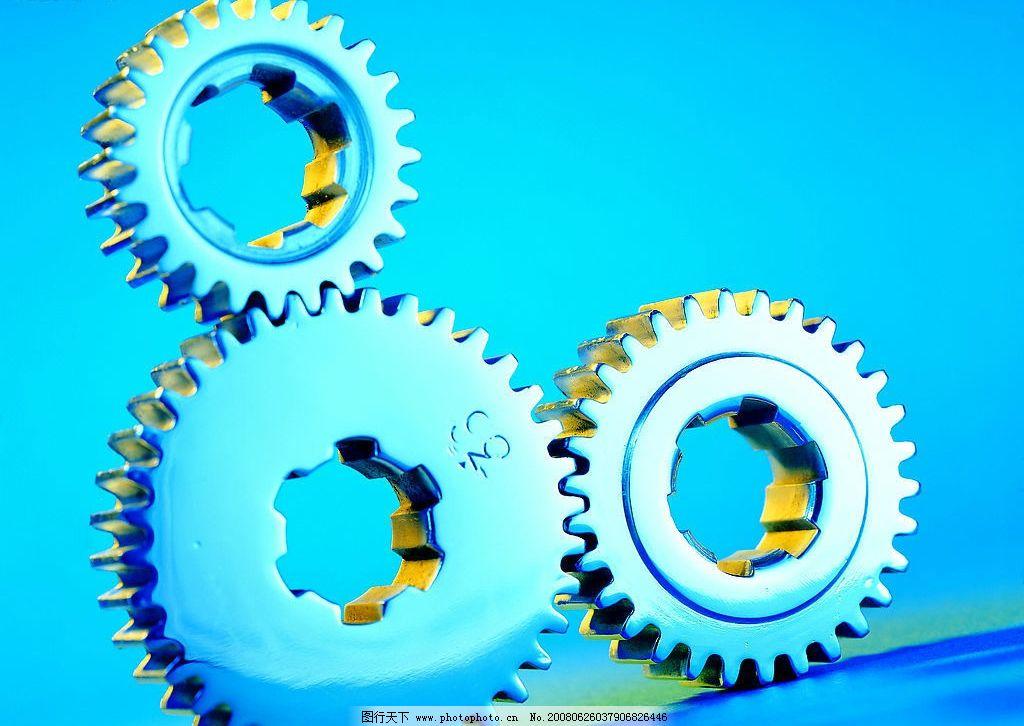 齿轮 多个 蓝色 机器零件 现代科技 工业生产 摄影图库 72 jpg